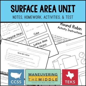 Surface Area Unit - total and lateral