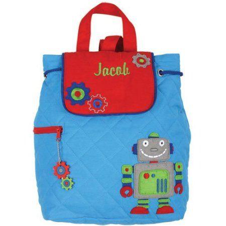 Amazon.com: Stephen Joseph Quilted Robot Backpack - Toddler Backpacks - Preschool Backpacks: Clothing $21.99