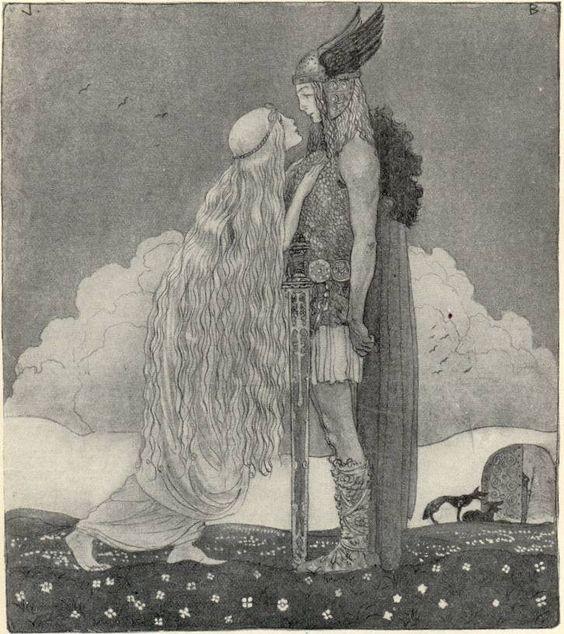 """John Bauer """"Freyja and Svipdag"""" 1911:"""