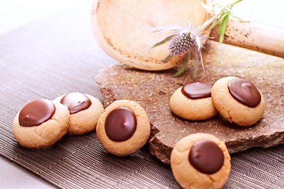 Nougat-Taler   nougat drop biscuits   Bild klicken, um zum Rezept zu gelangen / Click image for recipe.