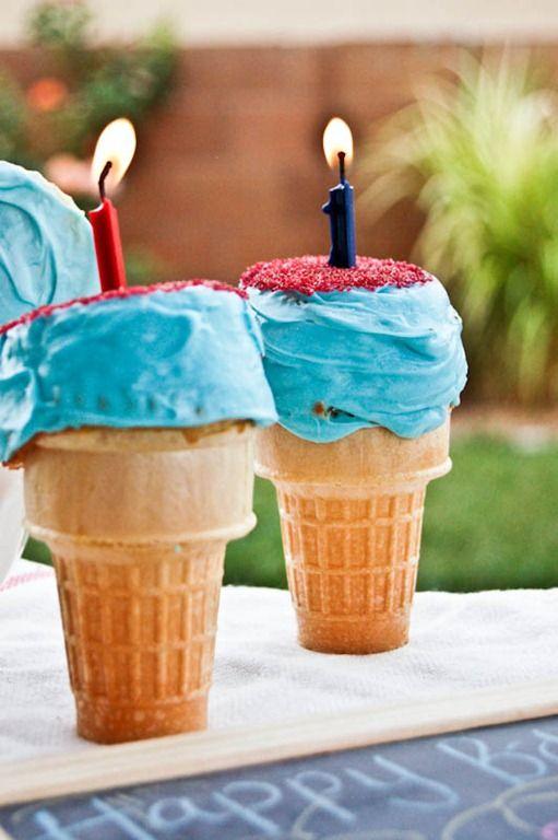 Firework Ice Cream Cone Cupcake-2