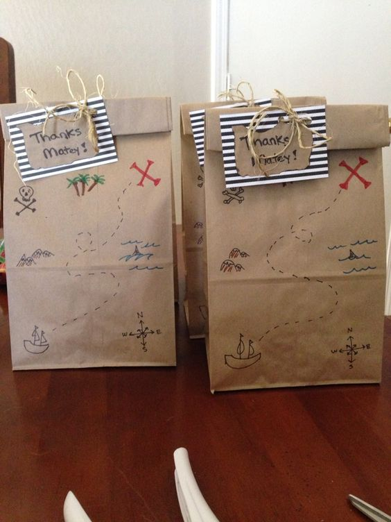 Pirate party gift bags