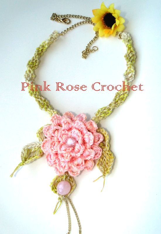 \ PINK ROSE CROCHET /: Flower