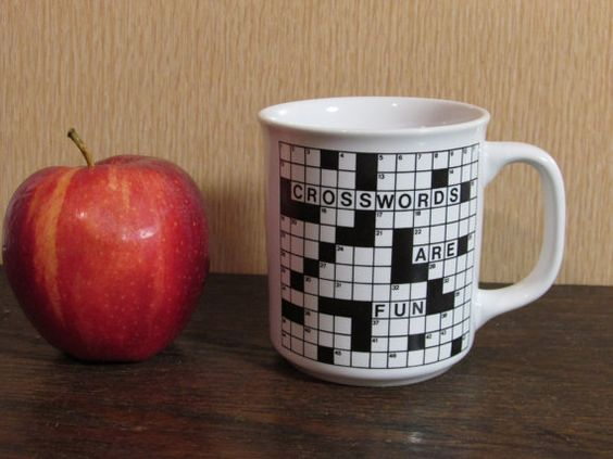 crossword mug for the puzzle enthusiast
