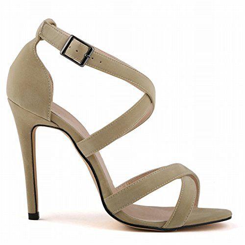 iBaste Damen Mädchen Sommer sexy Samt High Heels Pumps Sandalen sandaletten Knöchelriemen Peep Toes Stilettoabsatz Abendschuhe Party Hochzeit Ballschuhe Damenschuhe - http://on-line-kaufen.de/ibaste-9/ibaste-damen-maedchen-sommer-sexy-samt-high-heels