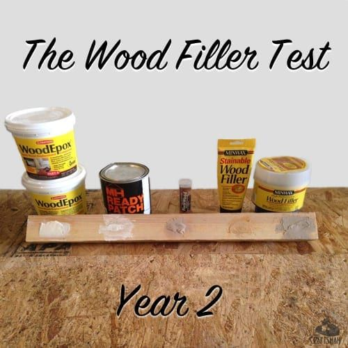 The Wood Filler Epoxy Test Year 2 The Craftsman Blog Wood Filler Wood Wood Fillers