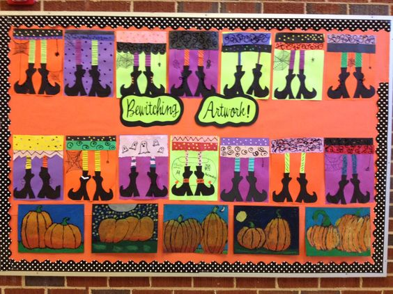 Artworks, October bulletin boards and Ties on Pinterest