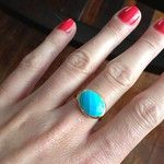 Turquoise Stone & Gold Cocktail Ring | Mary-Margaret Ring | Stella & Dot: