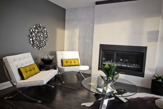 Yellow or green accents really make a basic toned room pop!