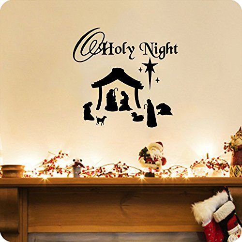 Night scene and o holy night on pinterest for O holy night decorations