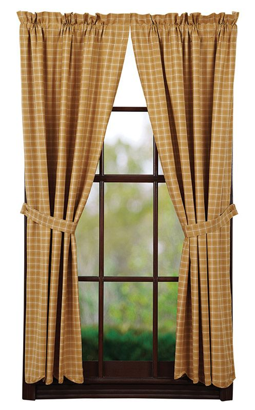 Amherst Lined Scalloped Short Curtain Panels 63