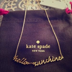 ***SOLD***I just discovered this while shopping on Poshmark: Authentic Kate Spade Hello Sunshine Necklace. Check it out!  Size: OS