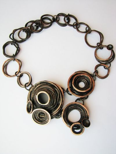 """Jamie Spinello Barnacle Necklace as found on Harriete Estel Berman's """"Ask Harriete"""" weblog.  This is part of Harriete's article on COPY CATS."""