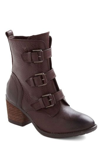 Smore to Life Boot - Mid, Leather, Brown, Buckles, Steampunk, Tis the Season Sale