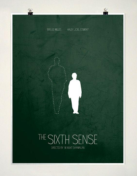 the sixth sense minimalist poster minimalist film