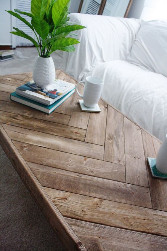 Herringbone Coffee Table For Kate Turquoise Patterns