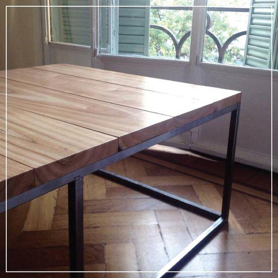 Mesa Superclásica Paraíso : : : Hierro y tablas de madera ...