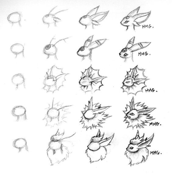 Apprendre a dessiner pokemon alex pinterest pok mon - Dessiner pokemon ...