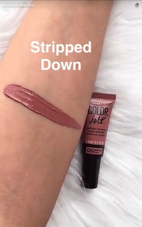 1 Maybelline Color Jolt Intense Lip Paint stripped down Swatch