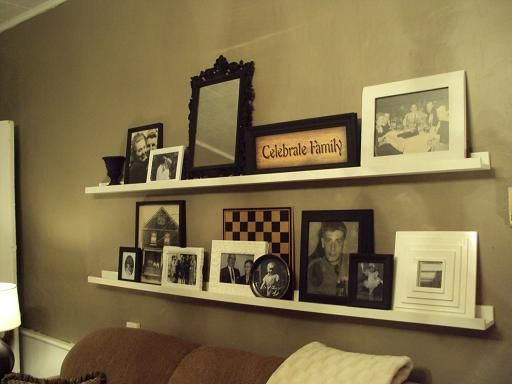 shelves above couch ashley 39 s thrifty living the shelves. Black Bedroom Furniture Sets. Home Design Ideas