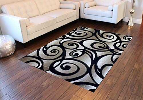 Sculpture Modern Area Rug Design Sc 241 Black 8 Feet X 10 Feet 6 Inch Modern Area Rugs Area Rug Design Contemporary Area Rugs