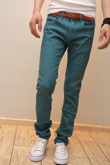 Wholesale Elegant & Casual Pure color Slim Small Bottom Long Pants----Green top dresses