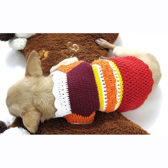 Taza de té Chihuahua ropa XXS perro traje Casual por myknitt