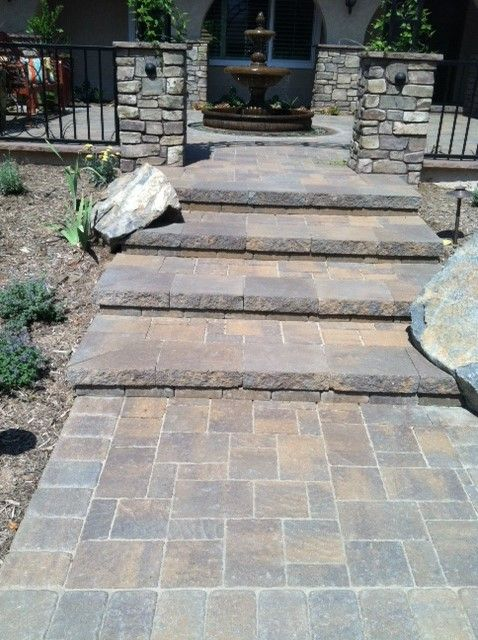 Create instant curb appeal by adding pavers to your landscape! #resourcebuildingmaterials