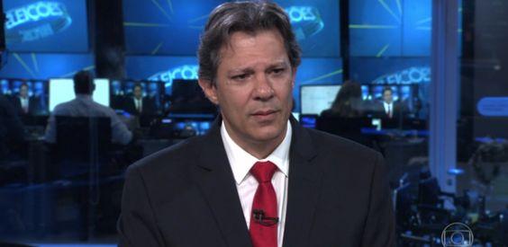 """Haddad dá """"boa noite"""" a Lula em entrevista no Jornal Nacional"""