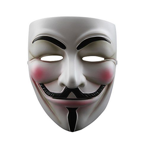 Floureon V for Vendetta Mask Anonymous Guy Fawkes V Fancy Resin Costume Cosplay Floureon                                                                                                                                                      Mais