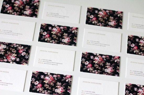 Cartes de visite fleuries.