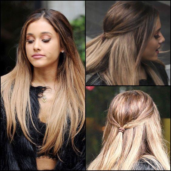 Ariana grande hair down ariana grande pinterest ariana grande maya et looks naturels - Ariana grande coiffure ...