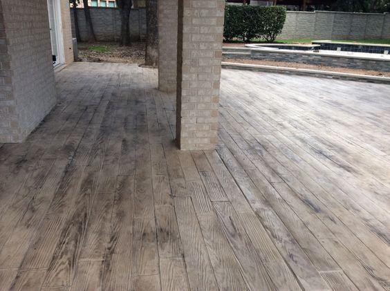 Stamped Concrete Patio Looks Like Wood : Stamped concrete google and woods on pinterest
