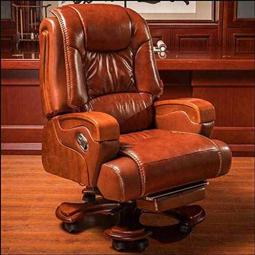 Executive Office Chairs Boss Chair, Real Leather Office Chair