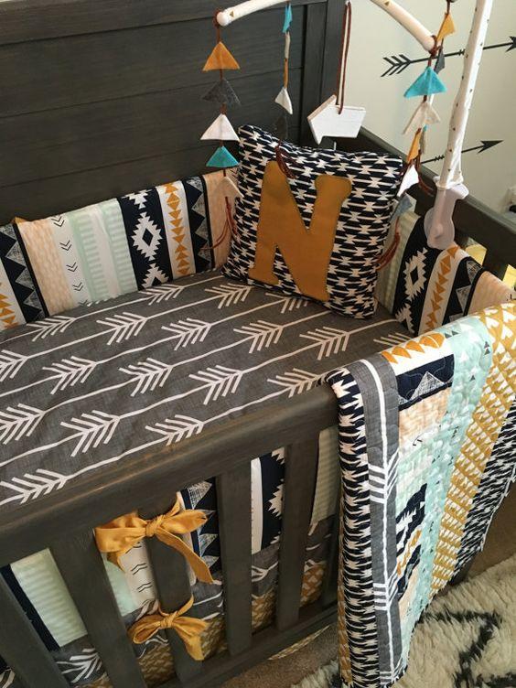 Nursery Bedding Crib Bedding Custom Deer by SproutCribCoutureLLC