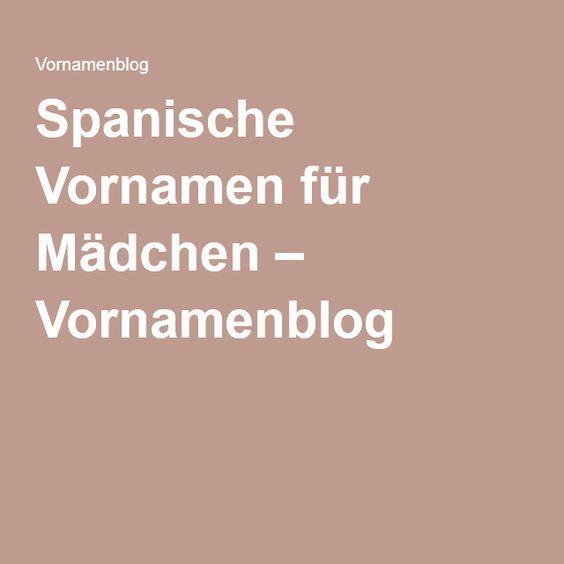 Spanische Vornamen für Mädchen – Vornamenblog