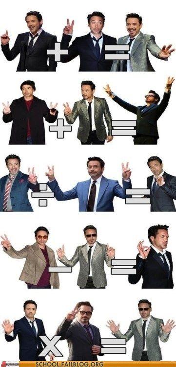 Robert Downey Junior teaches Maths
