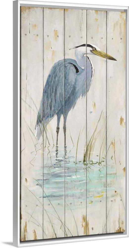 Blue Heron Heron Art Canvas Art Art Painting