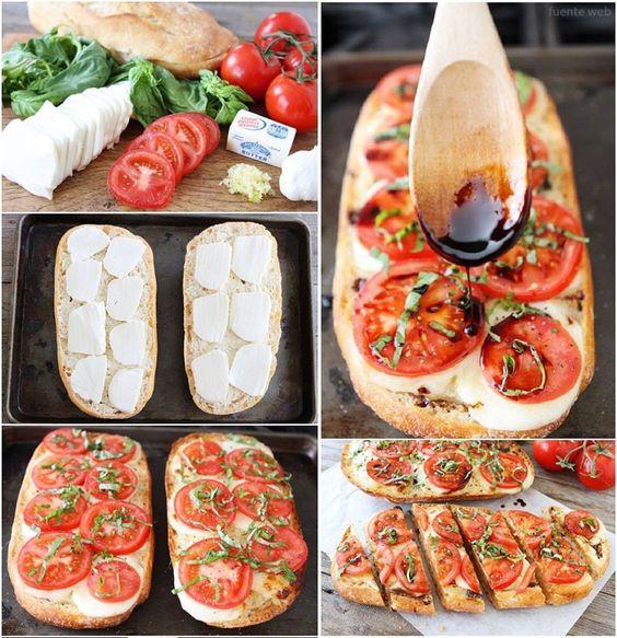 Idea cena f cil sobre rodajas de pan campesino en la for Que cenar rico