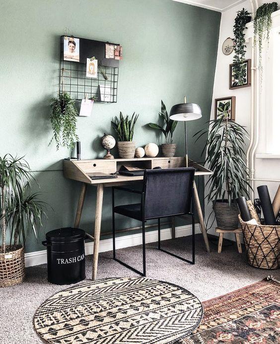 bureau plantes déco