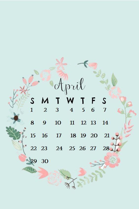 April Iphone Calendar Wallpaper In Hd Quality 5 In 2020 Calendar