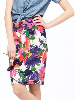 J.Crew No. 2 pencil skirt in garden floral via Apples and Pencil Skirts