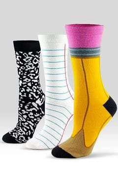 Students would get such a kick out of this on crazy sock day