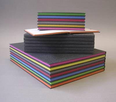 Kladden liniert mit Farbschnitt, A4, A5, A6