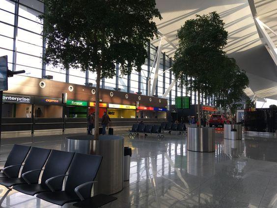 Внутри аэропорта в Гданьске