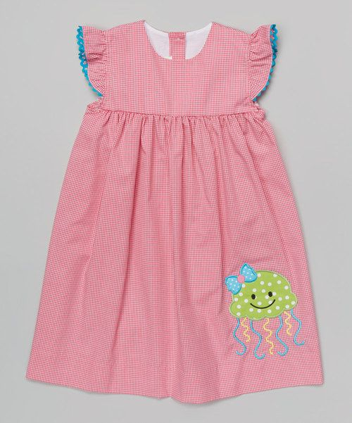BeMine Pink Jellyfish Angel-Sleeve Dress - Infant, Toddler & Girls by BeMine #zulily #zulilyfinds