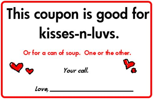 Oh, man... he went with Chicken Noodle... (Not Me.) = )  cool card idea.
