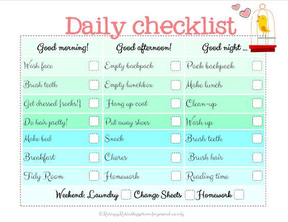 Raising up Rubies: back to school checklist ... free print ♥