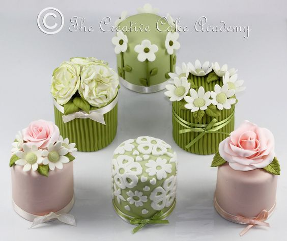 How To Decorate Mini Cakes   THE CREATIVE CAKE ACADEMY - MINI CAKES - THE FLOWER COLLECTION