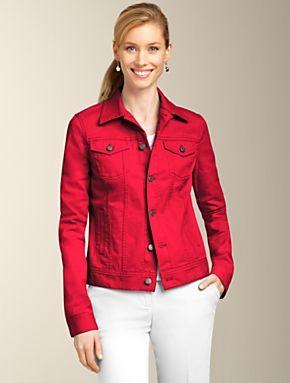 Talbots - Colored Denim Jacket | | MISSES | Clothes | Pinterest ...